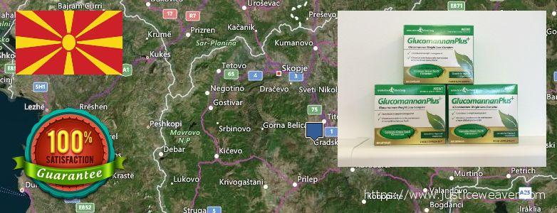 Dimana tempat membeli Glucomannan Plus online Macedonia
